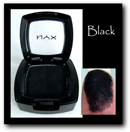 NYX Eyeshadown BLACK