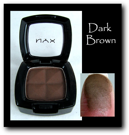 NYX Eyeshadown dark brown