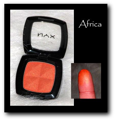NYX Eyeshadown africa
