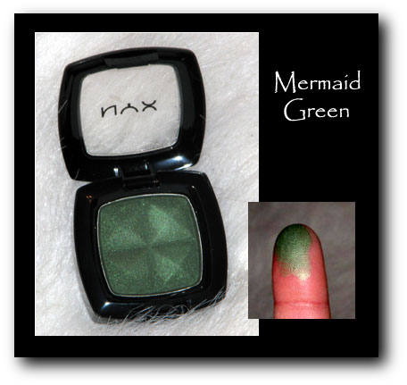 NYX Eyeshadown mermaid green