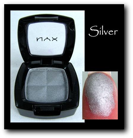 NYX Eyeshadown Silver
