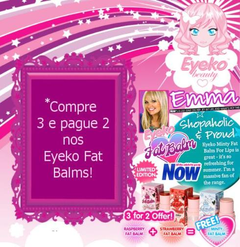 promoção lip balm eyeko compre 2 leve 3
